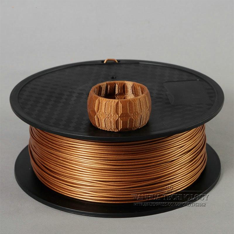 Wholesale 3D Printer Filament Pure copper Fill color 1 75mm 0 8kg 2 2lbs Metal Consumable