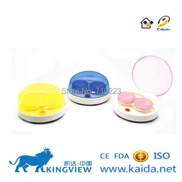 Exquisitely Carved Wholesale Contact Lens Cleaner Case Contact Lens Container Cleaner(China (Mainland))