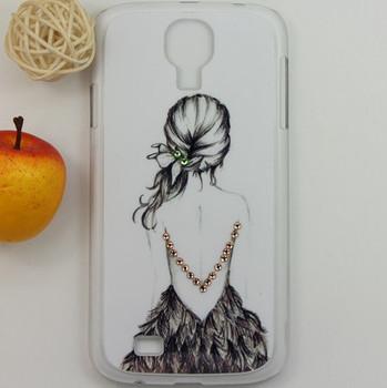 Brand new Kwin bling rhineston diamond beautiful gilr plastic back cover case for samsung galaxy S4 SIV i9500