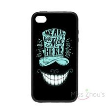 For iphone 4/4s 5/5s 5c SE 6/6s plus ipod touch 4/5/6 back skins mobile cellphone cases cover We're All Mad Here