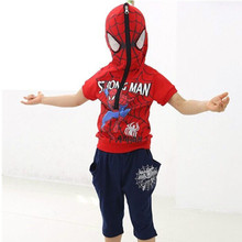 Spiderman suit boy children with thick warm clothing for the winter boys and girls establish  2015 new shirping suit autumn(China (Mainland))