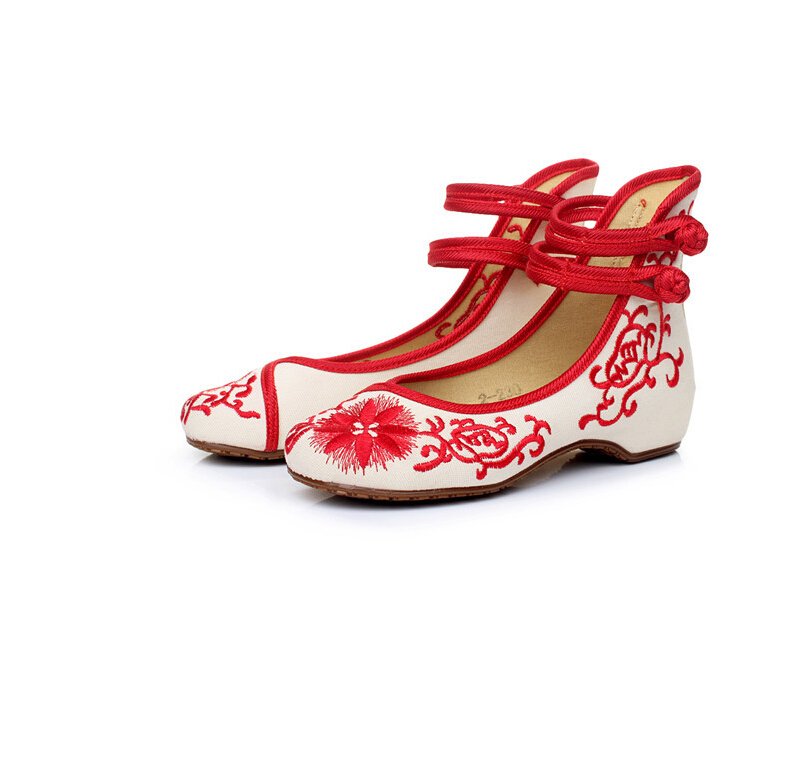 New 2016 women's embroidery cloth shoes Red+Blue+Black Chinese elements nation Comfortable breathable Canvas Shoes EMS Size 8 9(China (Mainland))