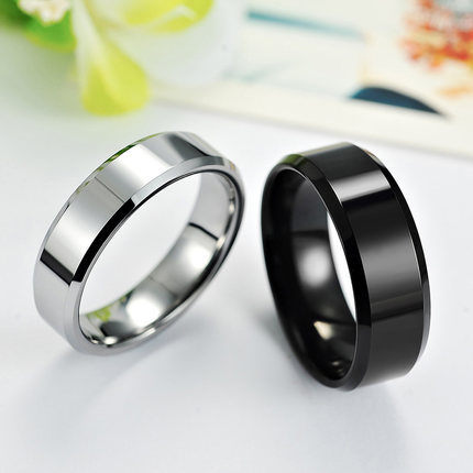2015 Hot Selling Tungsten Lovers Ring Fashion Finger Free Engraving Laser Service Birthday Gift, Couple Wedding - LUCKY STAR 123 STORE store