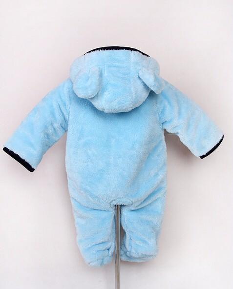 Скидки на Зима Новорожденный Арктический Утолщаются Плюшевые Ребенка Комбинезон животных моделирования/Длинный рукав Комбинезоны для детей/Детская одежда для новорожденных