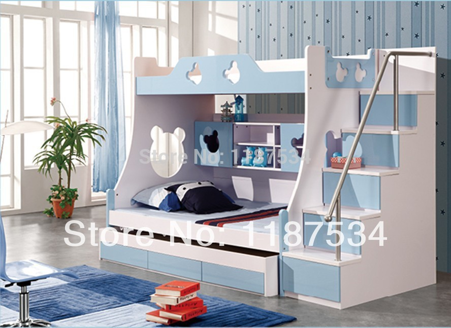 860# Children furniture sets with drawers bunk bed double-decker bed children bed(China (Mainland))