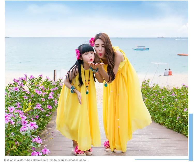 Скидки на Лето 2016 новых родителей хан издание большой ярдов богемия и шифоновое платье пляж полный - полный-юбкой платье