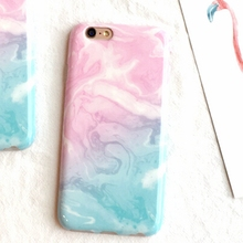 Buy Blue Pink Painted Marble Texture Phone Case iPhone 7 6 6s 7plus 6Plus 5 5S SE Case Soft TPU Silicone Back Cover Fundas for $4.09 in AliExpress store
