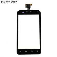 Wholesale For ZTE Blade C V807 Touch Screen Black Color 10 pcs/ lot Cell Phone Touch Glass Lens With Sensor Flex Cable Repair