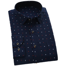 2016  Fashion Floral Slim fit men casual shirts  turn down collar long sleeve polka dots male clothes(China (Mainland))