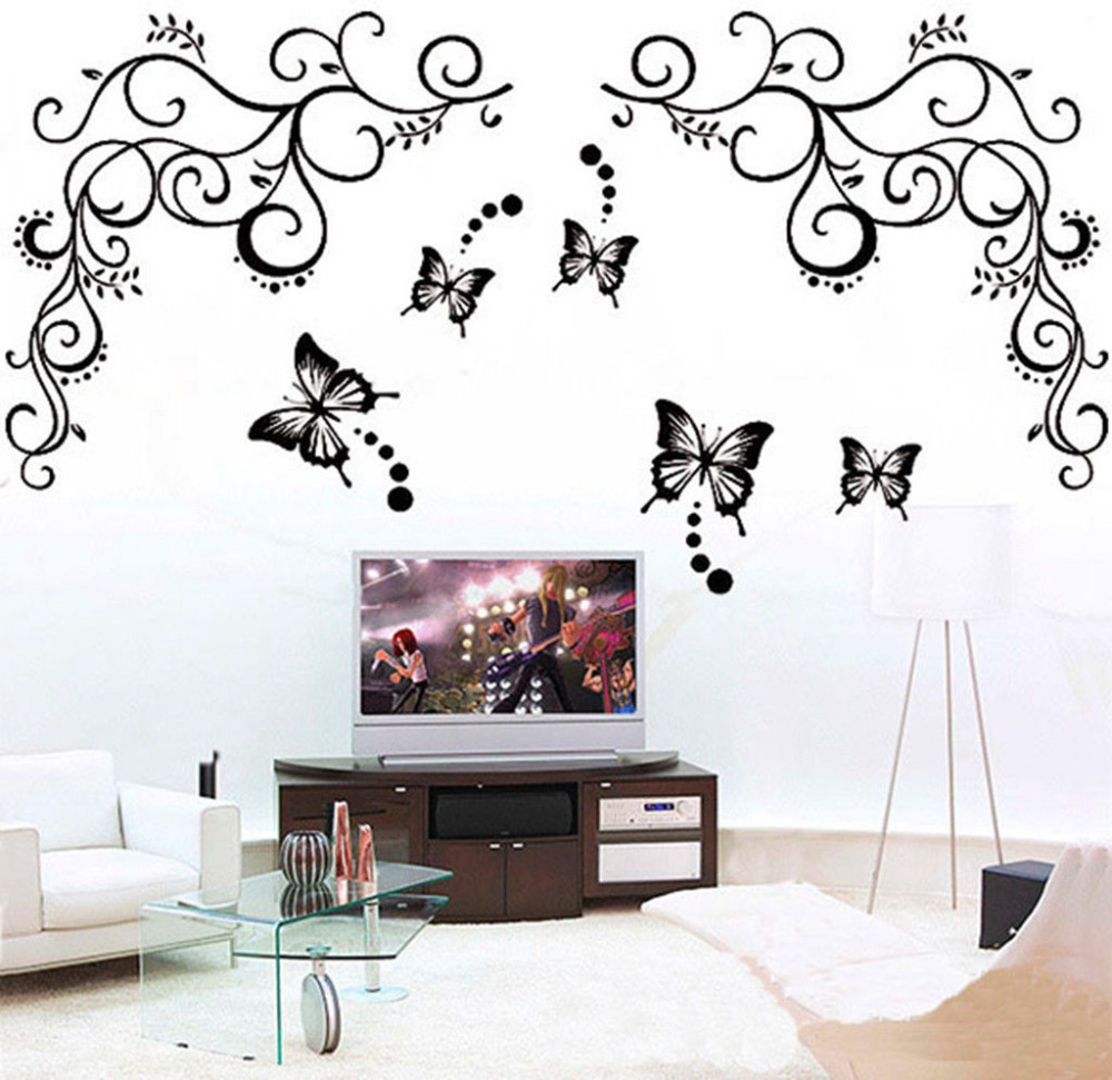 Removable Vinyl Wall Decor : Newly modern water proof home decor butterfly feifei