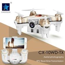 Mini Cheerson Drone FPV Wifi Remote Control Helicopter CX-10WD-TX 0.3MP Camera HD Headless Mode Newest RC Toys for Children