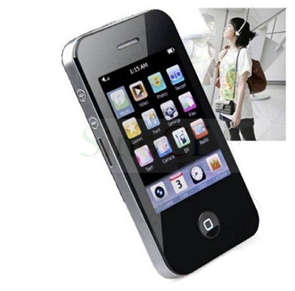 """New 2.8"""" 8GB Touch Screen I9 4Gen Style Mp3 Mp4 MP5 Player with Camera Shipping with Retail Package Black and White(China (Mainland))"""