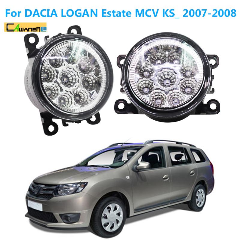 Cawanerl Car Styling LED Light Fog Lamp DRL Daytime Running Light 12V White Blue Orange For Dacia Logan Estate MCV KS_ 2007 2008(China (Mainland))