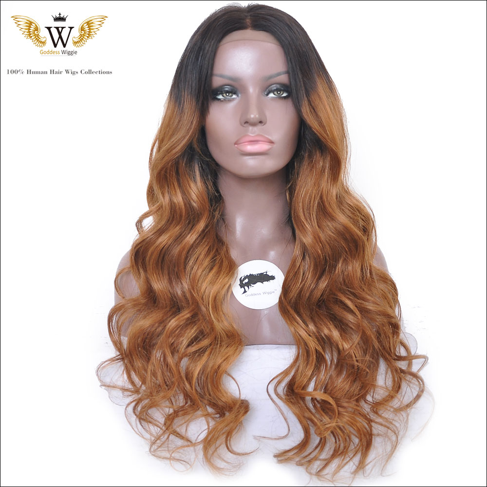 150Density Curly Ombre Virgin Human Hair Full Lace Wigs/Brazilian Ombre Curly Lace Front Human Hair Wigs/U Part Curly Wigs