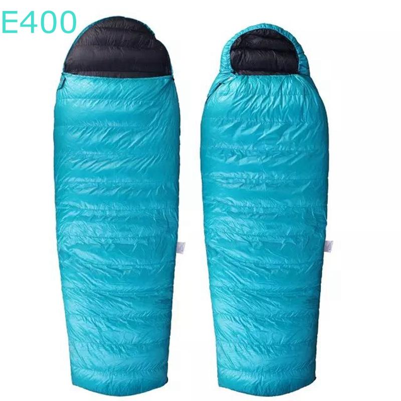 AEGISMAX AEGIS Eplus Envelope type  Splicing Goose Down Camping Hiking Sleeping Bag E400 Winter WIth Hat<br><br>Aliexpress
