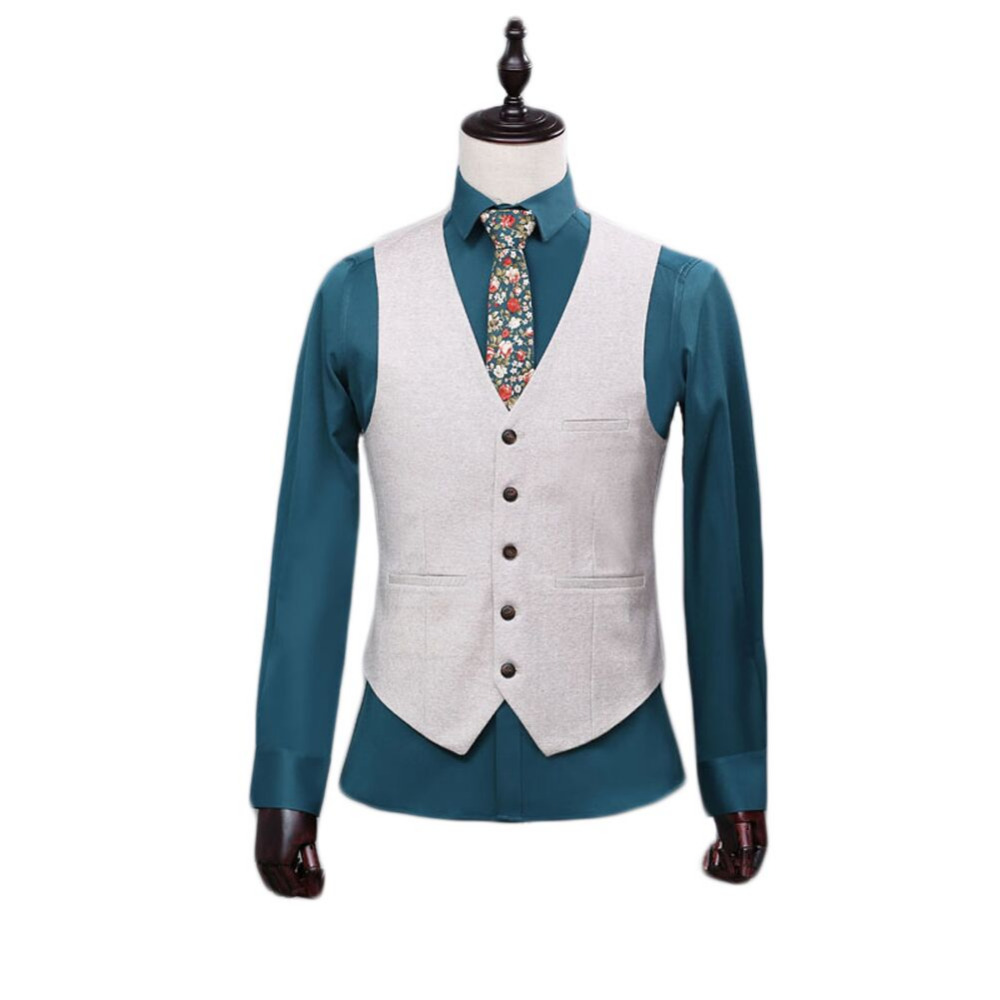 2017 High Quality White Men's Separate Formal Waistcoat Single-Breasted Custom Color 4 Bottons Vest for Formal Occasion