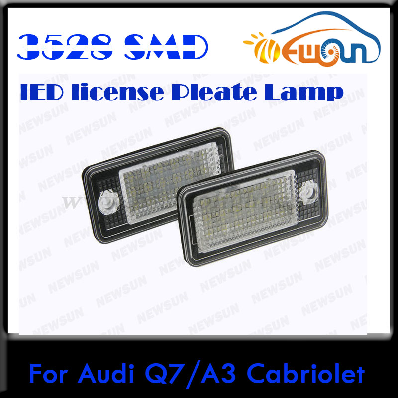 car auto parts free shipping 2pcs led light license plate. Black Bedroom Furniture Sets. Home Design Ideas