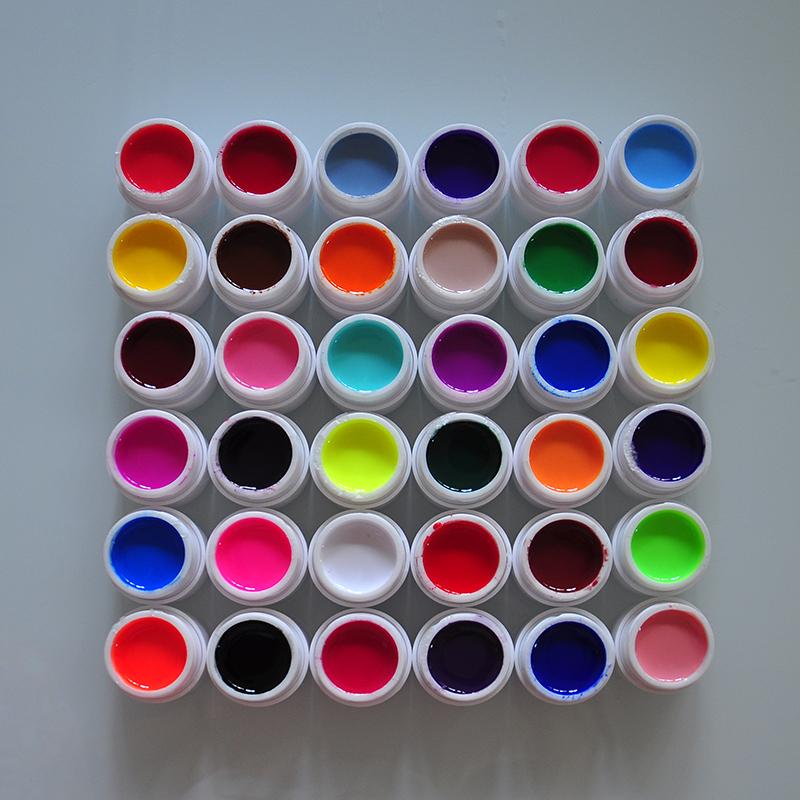 36 pcs Colors Pure Colour uv gel, Uv gel Set, Builder Gel for nail Varnish art tools(China (Mainland))