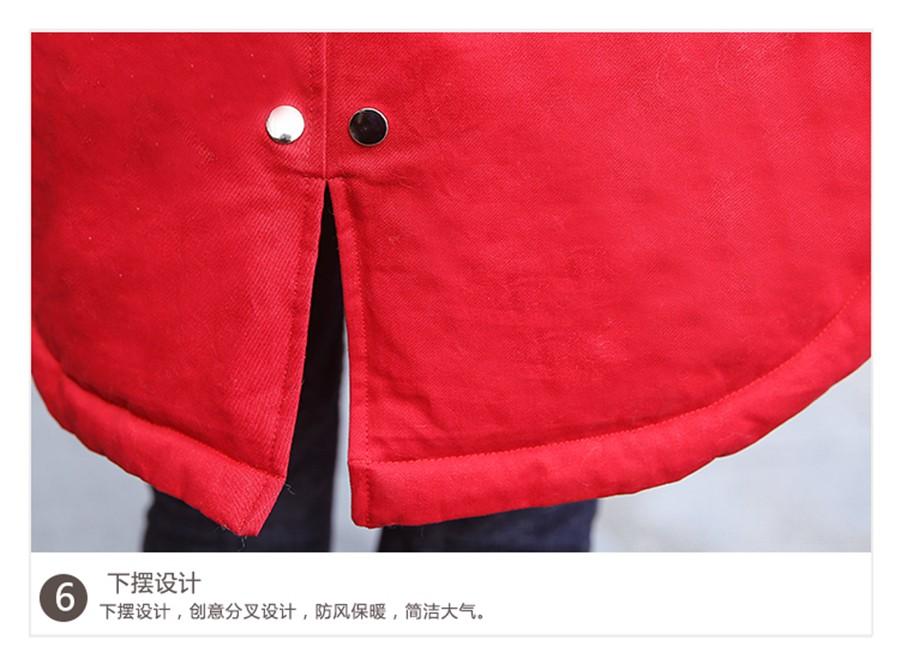 Скидки на Женщины Куртка Парка Меховой Воротник Армия Зеленый Пальто С меховой Капюшон Зима 2016 Хлопок Мягкий Теплый Верхняя Одежда Черный Серый красный