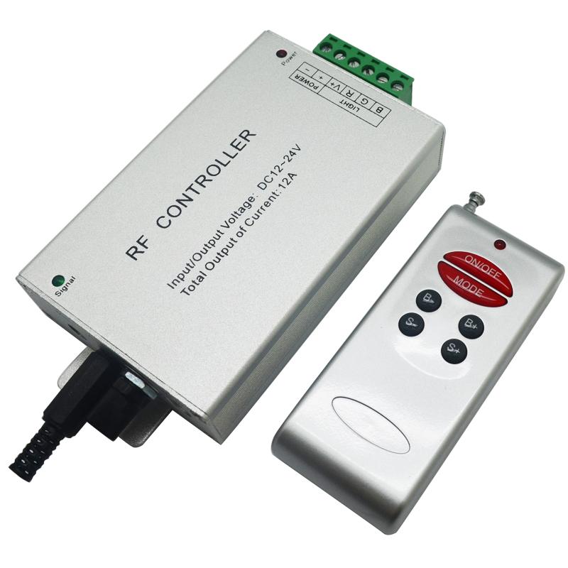 1piece 6key dc 12v 24v 12a 3 way *4A rf wireless led rgb music remote controller audio sound for led strip light free shipping(China (Mainland))
