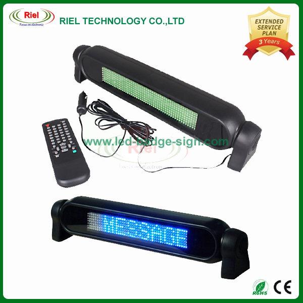 12V LED Scrolling Car Sign Board Programmable Blue Message Display Screen English EU languages 1 pcs/lot Free Shipping(China (Mainland))