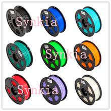 Wholesale Synkia10kg/lot 1.75mm ABS/ PLA Filament 3D Printers Filament 10 Colors Mix