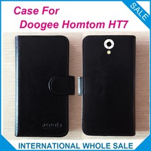 6 Colors Hot!! 2016 Doogee Homtom HT7 Case Phone, High Quality Leather Exclusive Cover For Doogee Homtom HT7 tracking number