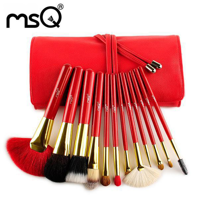 2014 MSQ New Arrive Red Makeup Kits,Hight Quality Mink &amp;Goat Hair Cosmetic Tool ,Free Shipping<br><br>Aliexpress