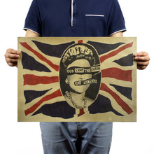 God save the queen / Rock wallpaper / Retro kraft paper poster / bar coffee decorative painting 51x35.5cm(China (Mainland))