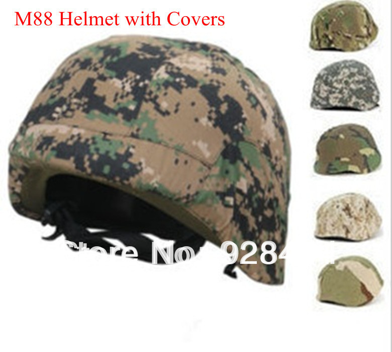 A+ quality US Military PASGT Kevlar Swat M88 Tactical Safety Helmet with covers Wholesale Freeshipping Dropshipping(China (Mainland))