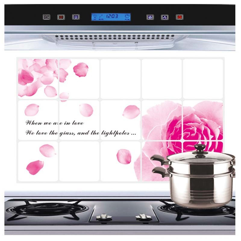 Flower Kitchen Wall Stickers Decal Home Decor Art Accessories Decorations Supplies Gear Items Stuff Products(China (Mainland))