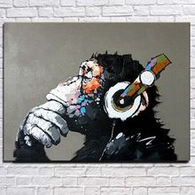 Free shipping gorilla handpainted modern  decoration oil painting wall art paintings picture paiting canvas paints home decor