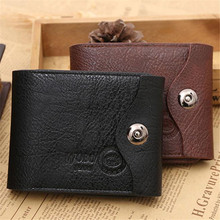 Buy new 2017 fashion men wallets Faux Leather Bifold Wallet ID credit Card holder Coin Purse Pockets Clutch zipper Wallets male for $3.44 in AliExpress store