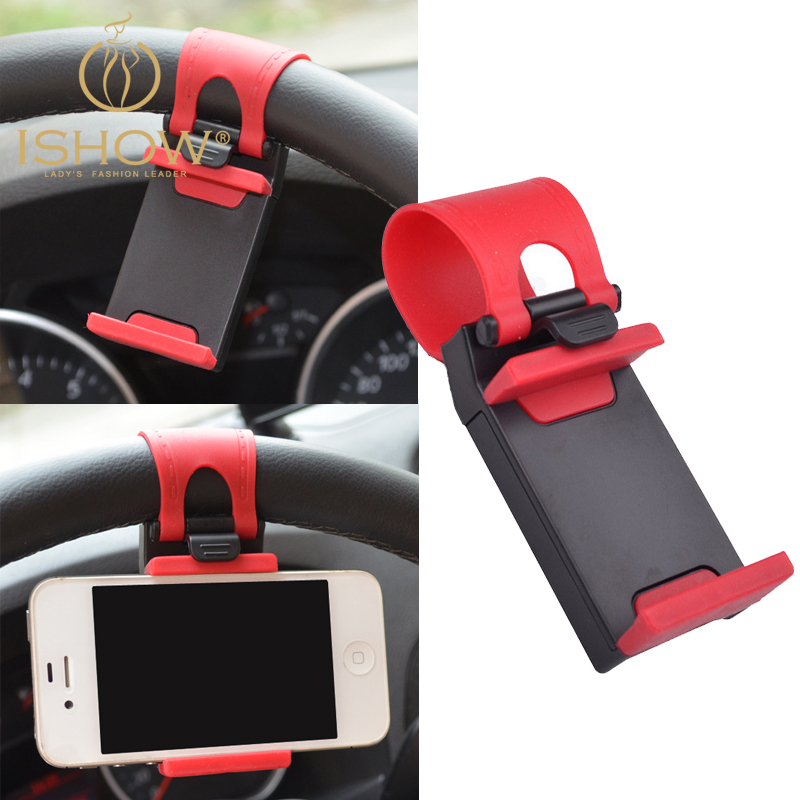 Universal Car Steering Wheel Mount Holder Rubber Band iPhone MP4 GPS Mobile Phone Holders Suporte Celular Carro - I SHOW Ali Store NO. 59 store