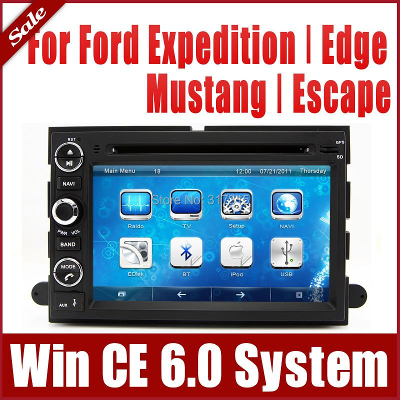 2-Din Car DVD Player for Ford Explorer Edge Expedition with GPS Navigation Nav Radio Bluetooth TV USB SD AUX Map Audio Video(China (Mainland))