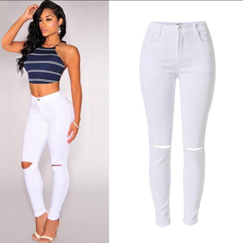 Popular High Waisted White Skinny Jeans-Buy Cheap High Waisted ...