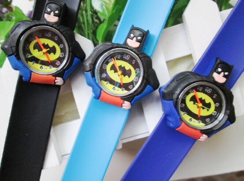 hot promotion! spiderman, slap watch silicon Children Watch Rubber cartoon quartz kids - kiven &watch shop store