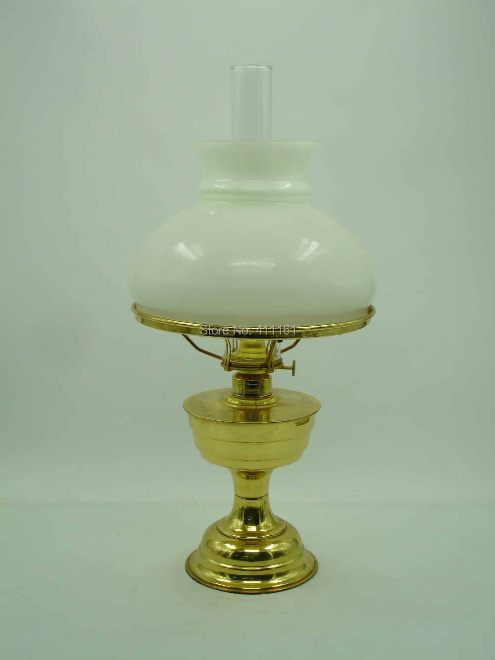 Deluxe Brass Evening Lamp Antique brass oil lamp lighting lantern paraffin lamp collection #59(China (Mainland))