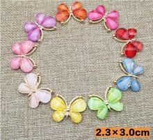 100pcs Phone beauty drill butterfly metal rhinestone button wedding embellishment hair bow DIY Alloy Mobile Phone Accessories