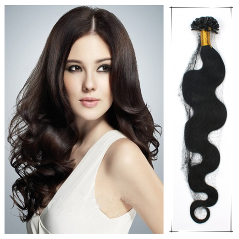 Wholesale 20inch/50cm Brazilian Remy Human Wavy Pre Bonded Hair Extension 50g/pc Tangle Freeext Ensiones Del pelo Humano(China (Mainland))