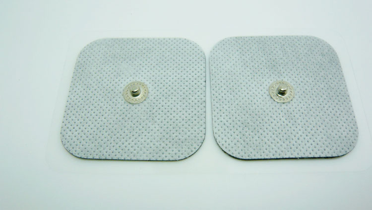 10 Piece 5*5CM 3.5MM button Electrode Pads Tens Electrodes for Tens Digital Therapy Machine Massager Nerve Stimulator(China (Mainland))