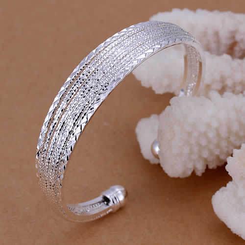 Гаджет  B145 Lose Money Promotions! Wholesale 925 silver bangle bracelet, 925 silver fashion jewelry, Line Bangle None Ювелирные изделия и часы