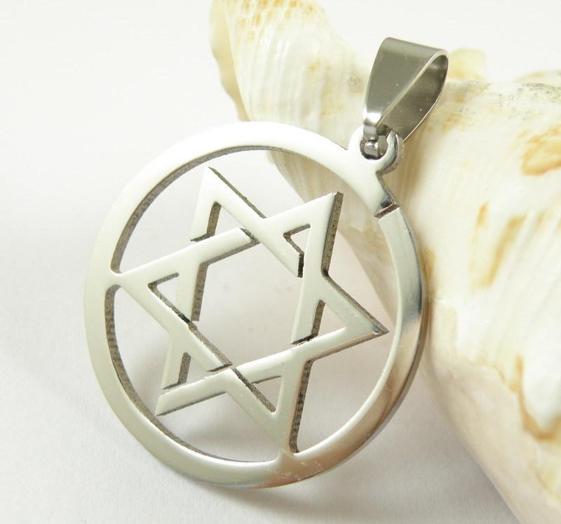 Downward-pointing pentagram Pentacle Titanium steel Satanism pewter pendant necklace Inverted pentagram Satan gothic Antichrist(China (Mainland))