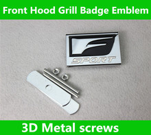 3D F Sport logo Car Front Hood Grill Badge Grille Emblem stickers Lexus IS250 ES350 LX570 GS CT200 CT200H - The car is still store