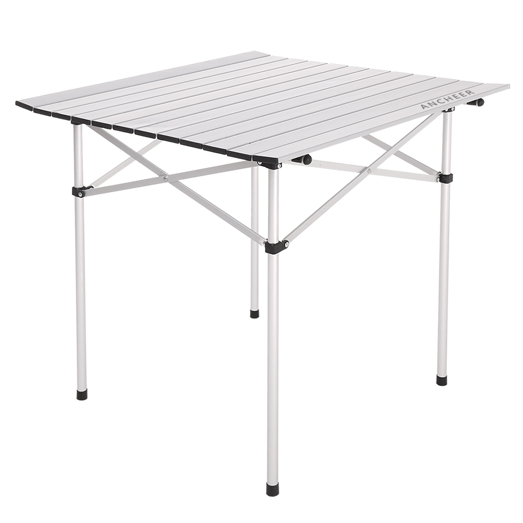 2016 New Ancheer Portable Aluminum Roll Up Table Folding Desk Camping Outdoor Picnic Table Garden Yard(China (Mainland))
