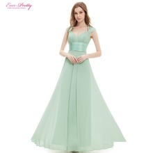 Bridesmaid Dresses V-neck Sequins Chiffon Empire Long Bridesmaid Dresses 2016 HE09672WH Mint Green White Coral Plus Size(China (Mainland))
