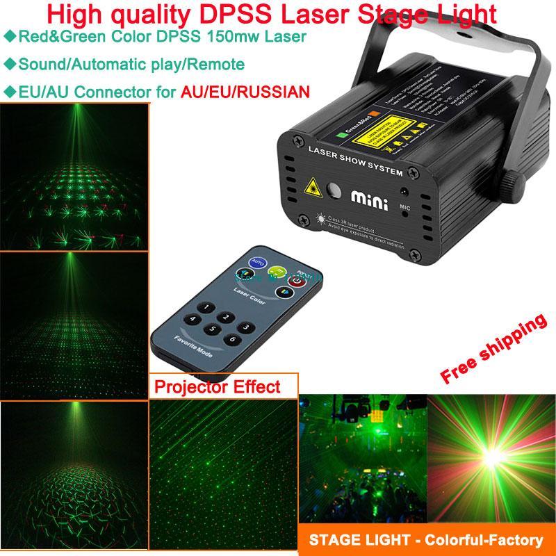 Здесь можно купить  new mini Green laser Projector remote stars pattern Light DJ dance Disco bar Party Xmas effect Stage Lights Show B46 free ship  Свет и освещение