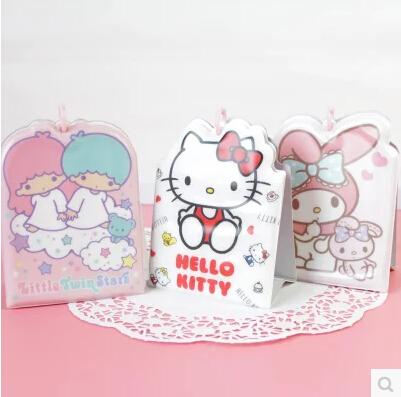 Year 2016 Cute Hello Kitty Melody Twinstar Desktop Paper Calendar Portable Pocket Calendar with Bendable Stripe(China (Mainland))
