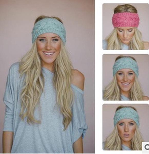 Hot Selling New Fashion Lady Crochet Headband Knit Hairband Flower Winter Women Ear Warmer Girl Headwrap(Hong Kong)