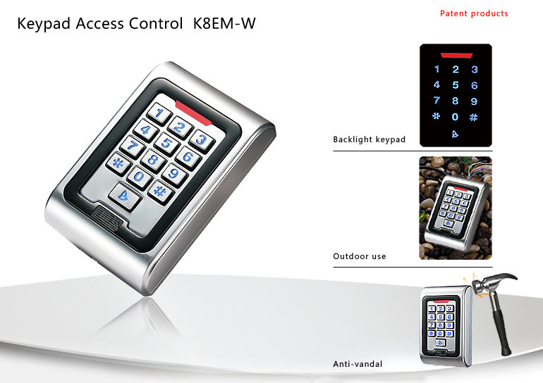 Free shipping IP68 Metal Keypad Waterproof Outdoor Rfid Access Controller Wiegand 26 Access Control Metal Case(China (Mainland))